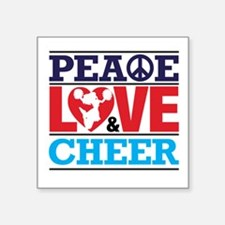 Peace Love and Cheer Sticker
