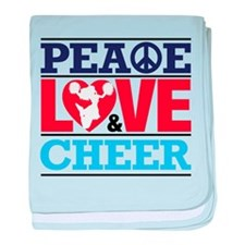 Peace Love and Cheer baby blanket