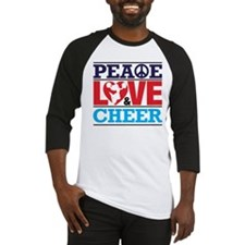 Peace Love and Cheer Baseball Jersey