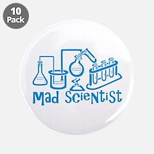 "Mad Scientist 3.5"" Button (10 pack)"