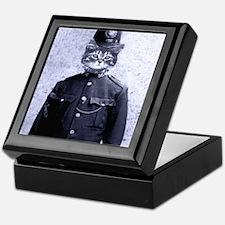 Policeman Cat Keepsake Box
