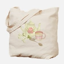 Vintage Old English Teapot Tote Bag