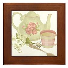 Vintage Old English Teapot Framed Tile