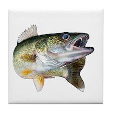 walleye turn Tile Coaster