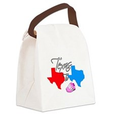 Turning Texas Red to Blue Canvas Lunch Bag