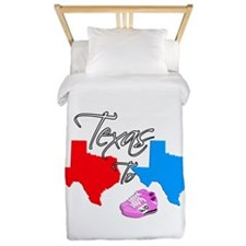 Turning Texas Red to Blue Twin Duvet