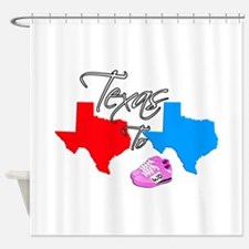 Turning Texas Red to Blue Shower Curtain