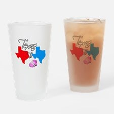 Turning Texas Red to Blue Drinking Glass