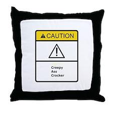 Creepy Cracker Throw Pillow