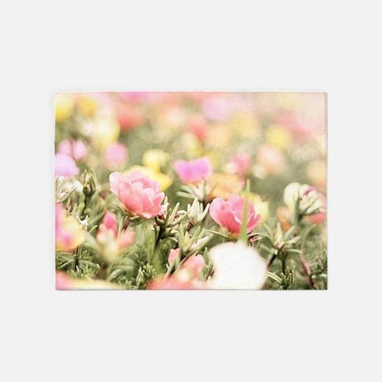 Romantic Flowers 5'x7'Area Rug
