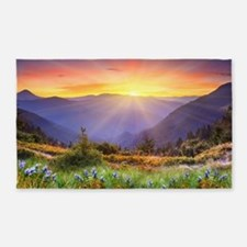 Mountain Sunrise 3'x5' Area Rug