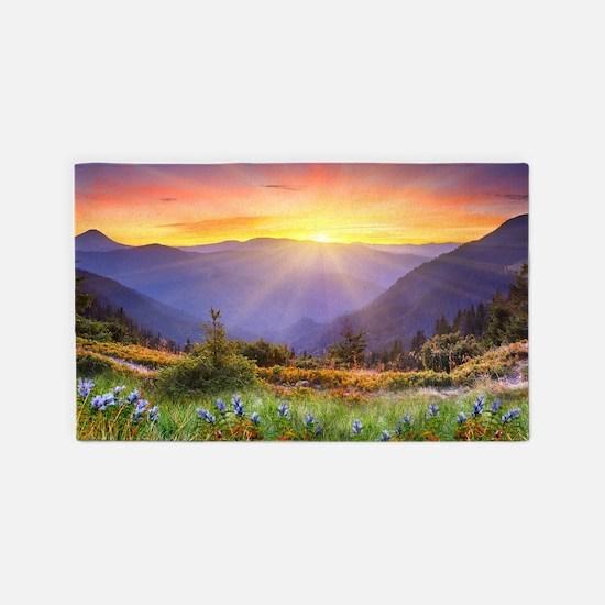 Mountain Sunrise 3'x5' Area Rug