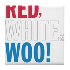 Red, White and WOO! Tile Coaster
