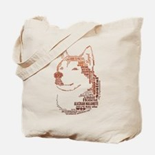 Malamute Words Tote Bag