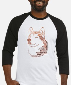 Malamute Words Baseball Jersey