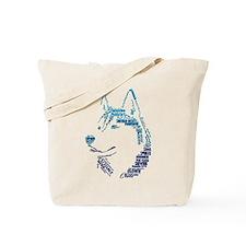 Husky Words Tote Bag