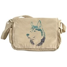 Husky Words Messenger Bag