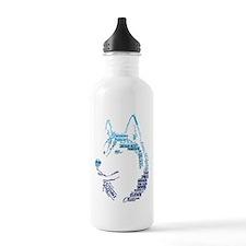 Husky Words Water Bottle