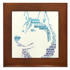 Husky Words Framed Tile