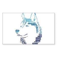 Husky Words Decal