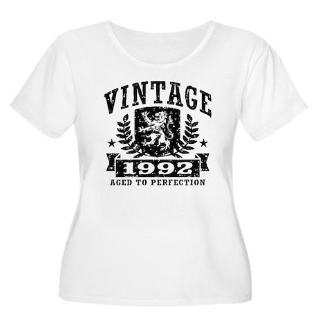Vintage 1992 Women's Plus Size Scoop Neck T-Shirt