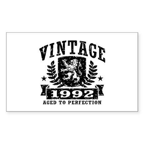 Vintage 1992 Sticker (Rectangle)