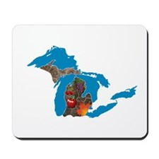Great Lakes Michigan Harvest Mousepad