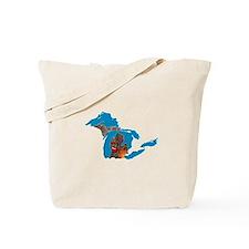 Great Lakes Michigan Harvest Tote Bag