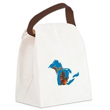 Great Lakes Michigan Harvest Canvas Lunch Bag