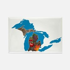 Great Lakes Michigan Harvest Rectangle Magnet