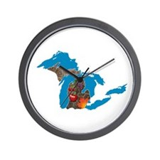 Great Lakes Michigan Harvest Wall Clock