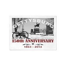 Civil War Gettysburg 150 Anniversary 5'x7'Area Rug