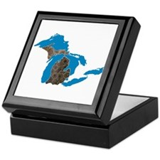 Great lakes Michigan petoskey stone Keepsake Box