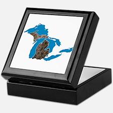 Great lakes Michigan petoskey stone Keepsake Box