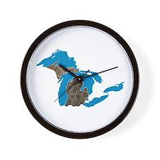 Great lakes Michigan petoskey stone Wall Clock