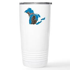 Great lakes Michigan petoskey stone Travel Mug