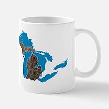 Great lakes Michigan petoskey stone Mug