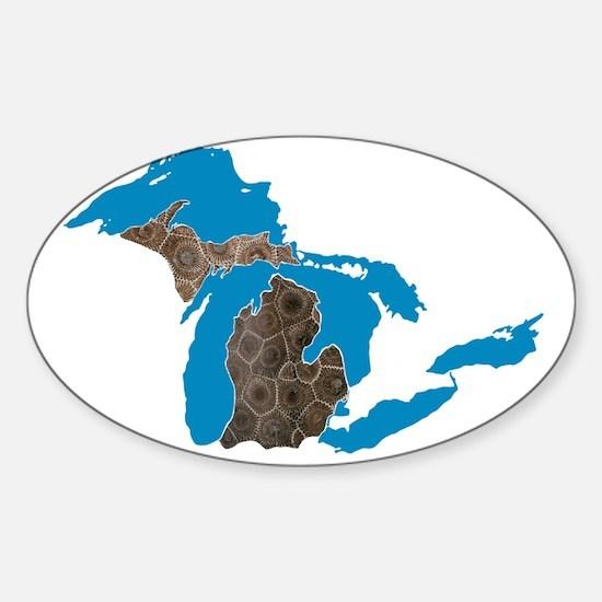 Great lakes Michigan petoskey stone Decal