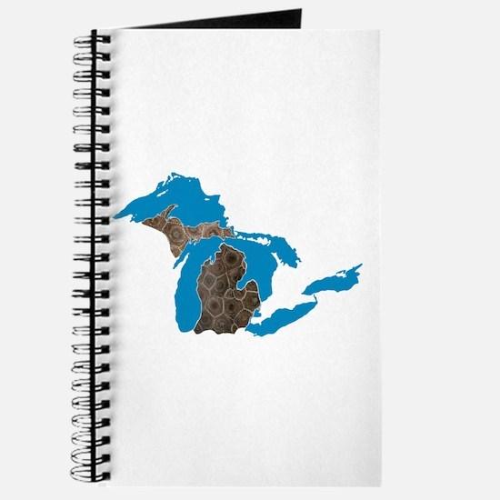 Great lakes Michigan petoskey stone Journal
