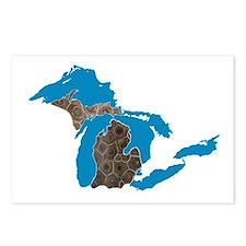 Great lakes Michigan petoskey stone Postcards (Pac