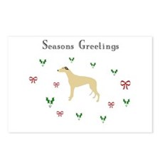 Fawn Greyhound xmas Postcards (Package of 8)