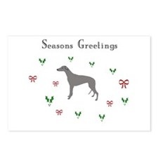 Blue Greyhound xmas Postcards (Package of 8)