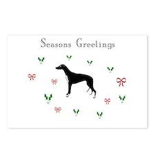 Black Greyhound xmas Postcards (Package of 8)
