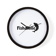 Fishaholic Wall Clock