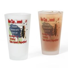 New Clue It's More Fun Fly Fishing Drinking Glass