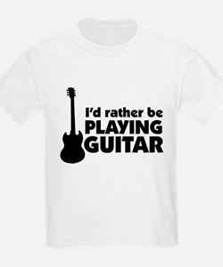 I'd rather be playing guitar Kids T-Shirt