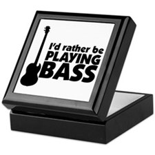 I'd rather be playing bass Keepsake Box