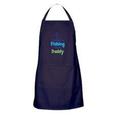 I'd rather be fishing with my daddy Apron (dark)