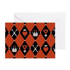 Queen Of Hearts Royal Motifs Greeting Card