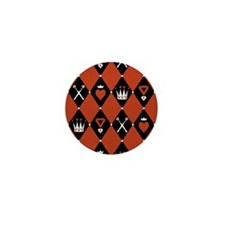 Queen Of Hearts Royal Motifs Mini Button